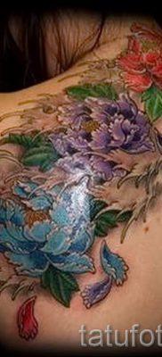 тату японский пион значение – фото пример татуировки от 15052016 3