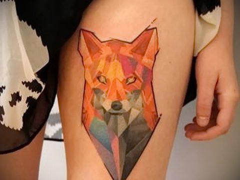 упрощенный рисунок морды лисы тату - фото классной татуировки от 03052016 4