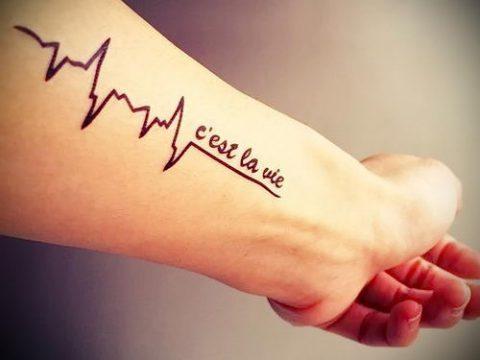 у пульс на руке фото - пример готовой татуировки 1