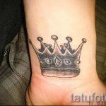 фото тату корона на запястье для парней - фото пример 1