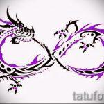эскизы тату бесконечность - вариант рисунка для татуировки от 09052016 1089 tatufoto_ru