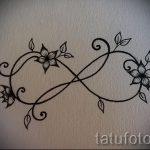 эскизы тату бесконечность на запястье - вариант рисунка для татуировки от 09052016 1099 tatufoto_ru