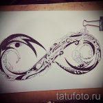 эскизы тату бесконечность с пером - вариант рисунка для татуировки от 09052016 3119 tatufoto_ru