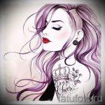 эскиз тату корона для девушек - рисунок для татуировки от 15052016 2