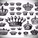 эскиз тату корона для девушек - рисунок для татуировки от 15052016 4