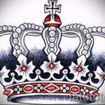 эскиз тату корона для девушек - рисунок для татуировки от 15052016 6