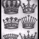 эскиз тату корона на запястье - рисунок для татуировки от 15052016 1