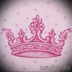 эскиз тату корона на запястье - рисунок для татуировки от 15052016 2