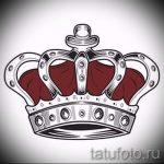 эскиз тату корона на запястье - рисунок для татуировки от 15052016 3
