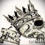 эскиз тату корона на запястье - рисунок для татуировки от 15052016 4