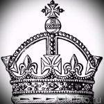 эскиз тату корона на запястье - рисунок для татуировки от 15052016 5
