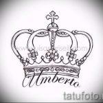 эскиз тату корона на запястье - рисунок для татуировки от 15052016 6
