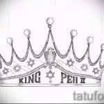 эскиз тату корона на шее - рисунок для татуировки от 15052016 2