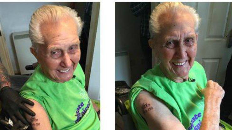 Первая татуировка в 104 года - фото 1