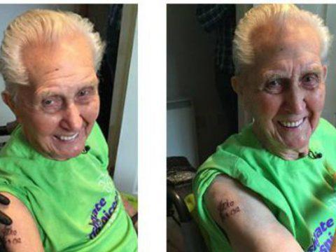Первая татуировка в 104 года - фото 2