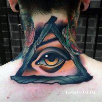 Тату глаз в треугольнике фото