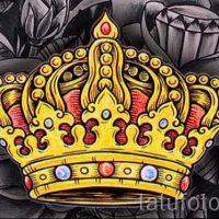 Корона тату эскиз