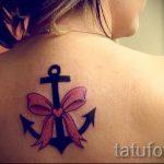 Bogen Tattoo auf dem Rücken - Foto Beispiel des fertigen Tätowierung 02052016 2