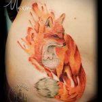 Feuer Fuchs Tattoo - cooles Tattoo Foto auf 03052016 1