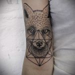 Fuchs geometrische Tattoo - cooles Tattoo Foto auf 03052016 2