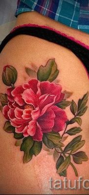 Japanese tattoo peony value – Photo example of the tattoo 15052016 2