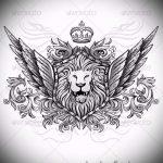 Löwe mit Skizze Krone Tattoo - Tattoo auf 15052016 Zeichnung 2