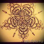 Mandala-Designs auf dem Rücken Tattoo - Tattoo-Zeichnung auf 02052016 5