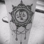 Mandala Liebe Tattoo - Foto Beispiel des fertigen Tätowierung auf 01052016 2