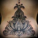 Mandala Lotus Tattoo - Foto Beispiel des fertigen Tätowierung auf 01052016 1
