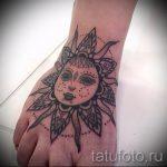 Mandala Sonne Tattoo - Foto Beispiel des fertigen Tätowierung auf 01052016 3
