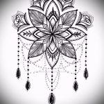 Mandala Tattoo-Designs auf der Hand - Zeichnung Tätowierung auf 02052016 2