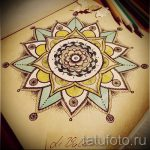 Mandala Tattoo-Designs in Farbe - Tattoo-Zeichnung auf 02052016 1