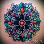Mandala Tattoo Farbe - Foto Beispiel des fertigen Tätowierung auf 01052016 1