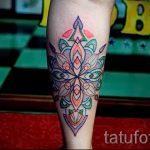 Mandala Tattoo Farbe - Foto Beispiel des fertigen Tätowierung auf 01052016 2