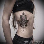 Mandala-Tattoo auf der Seite - Foto Beispiel des fertigen Tätowierung auf 01052016 4