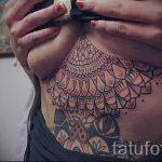 Mandala Tattoo unter der Brust - Foto Beispiel des fertigen Tätowierung auf 01052016 1