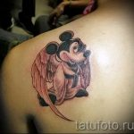 Mickey Mouse tattoo angel 1