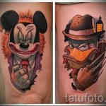 Mickey Mouse tattoo evil - finished tattoo on 16052016 2