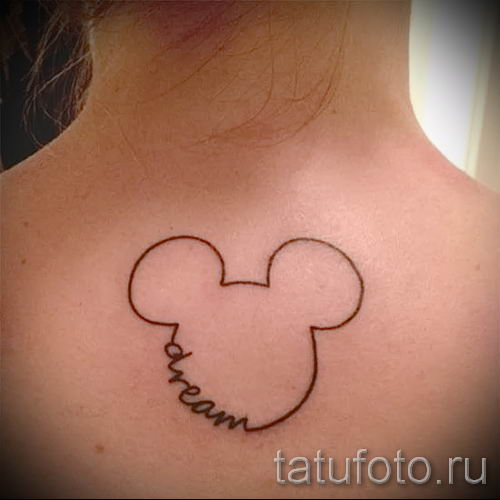 Mickey Mouse tattoo outline 2