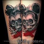 Mickey Mouse tattoo with a skull 1