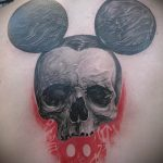 Mickey Mouse tattoo with a skull 2
