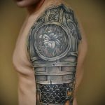 Roman armor tattoo 2