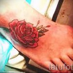 Rose tattoo on foot 2