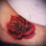 Rose tattoo on foot 3