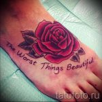 Rose tattoo on foot 4