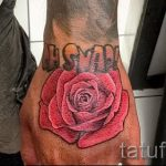 Rose tattoo on his hand Man 4