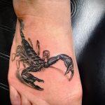 Scorpion tattoo on the foot 1
