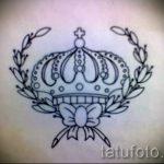 Skizze der Tattoo-Krone für Mädchen - Zeichnung Tätowierung auf 15052016 1