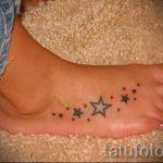 Star tattoo on the foot 1