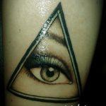 Tattoo-Auge im Dreieck auf der Hand - ein Foto des fertigen Tätowierung 13052016 2